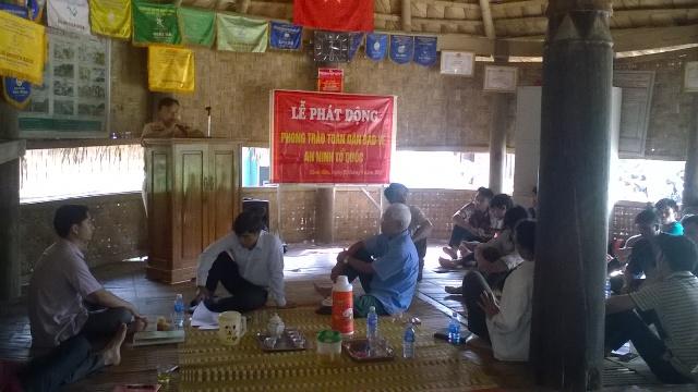 Hình ảnh HND xã tuyên tuyền pháp luật tại Chi hôi